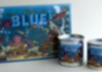 BLUE in der Schachtel und in Dosen