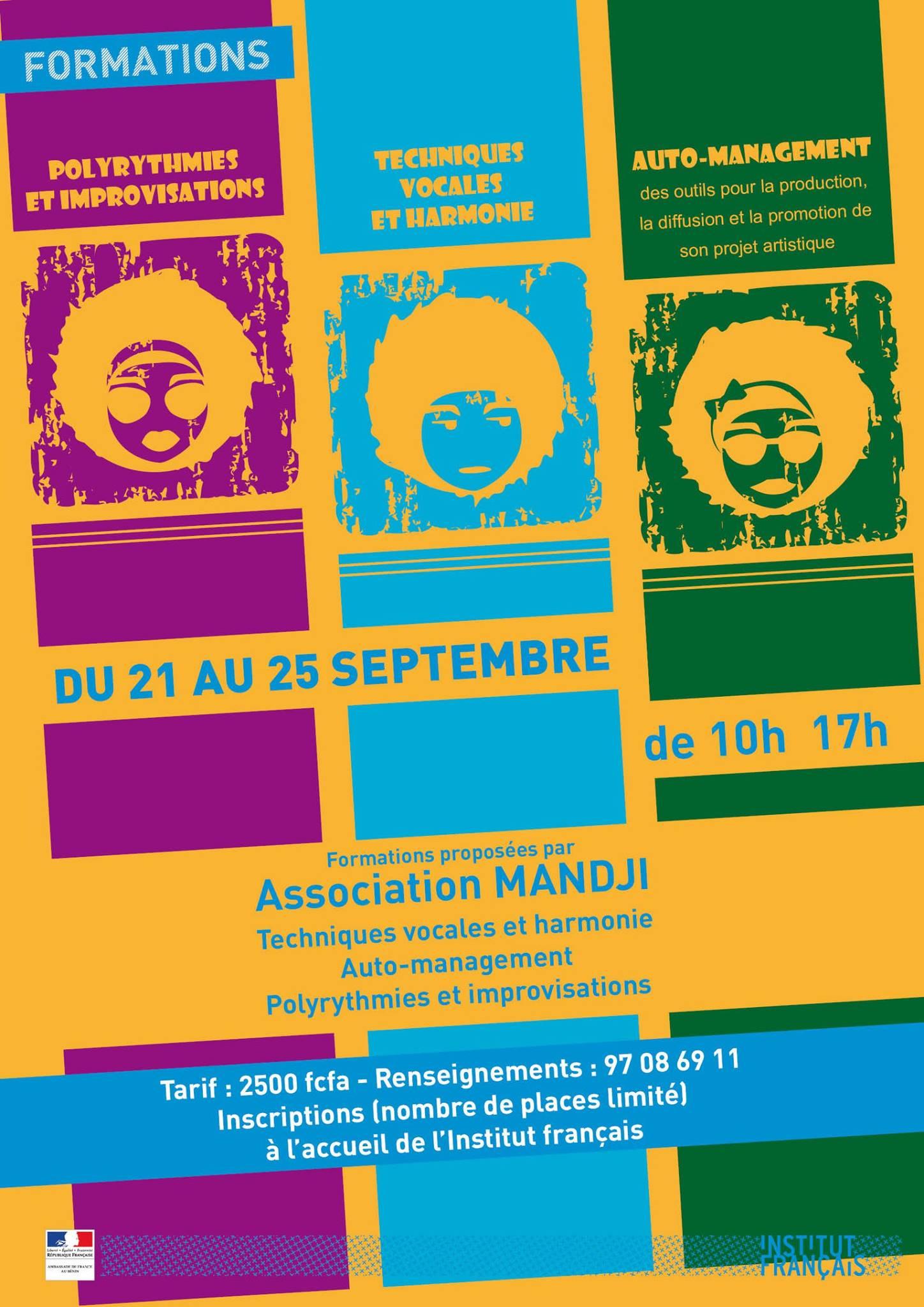 Affiche formations  Cotonou 2015