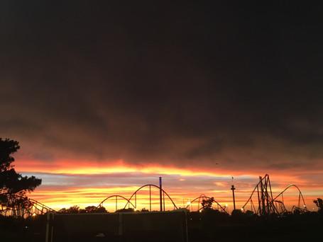Sunset over Carowinds