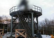 Крупногабаритная металлоконструкция - платформа под антенну
