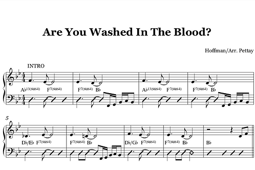 Are You Washed In The Blood Digital Sheet Music
