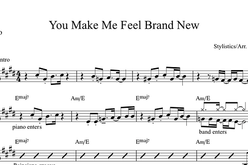You Make Me Feel Brand New Digital Sheet Music