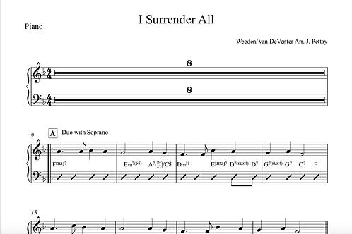 I Surrender All Digital Sheet Music