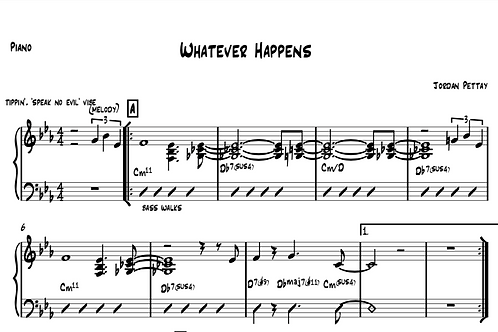 Whatever Happens Sheet Music