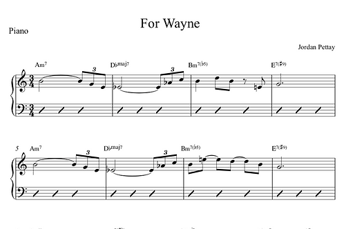 For Wayne Digital Sheet Music