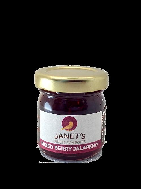 Mixed Berry Jalapeno Minis (1.5 oz), 12 jar case