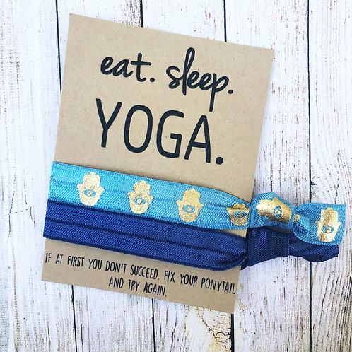 Eat. Sleep. Yoga. Hair Tie Set