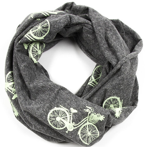 Grey Beach Cruiser Infinity Scarf