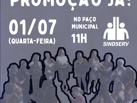 EQUIPES TÉCNICAS DA EDUCAÇÃO FARÃO ATO NO PAÇO PELA PROMOÇÃO!