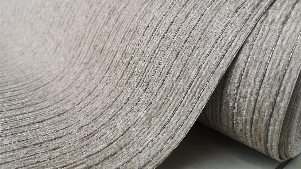 Dark Beige Fabric with Metallic Stripes