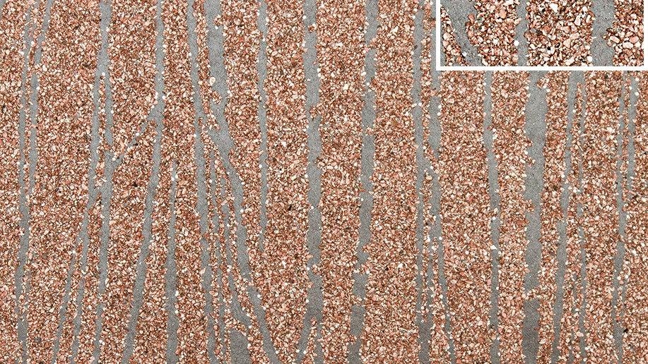 Zebra Stripe Pink Copper