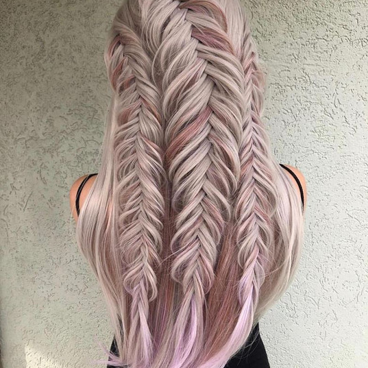 Fishtail Updo on Wig