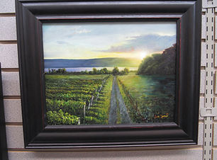 Painting of a vineyard.