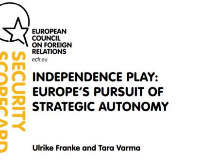 A la recherche de l'autonomie stratégique européenne