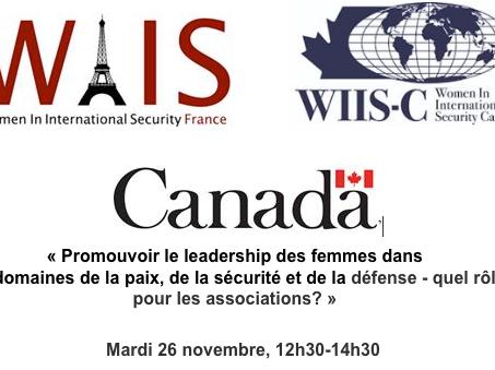 « Le leadership des femmes dans la paix et la sécurité »