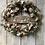 Thumbnail: Silent Night Farmhouse Burlap Double Door Wreaths