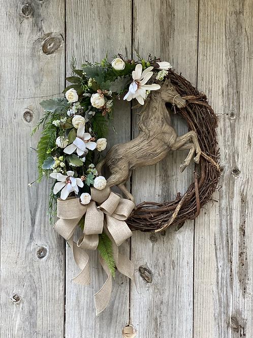 Rearing Horse Wreath