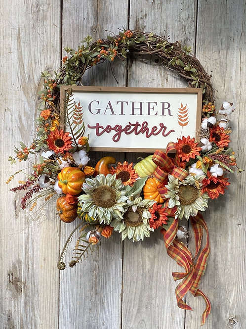 Fall Abundance Estate Wreath