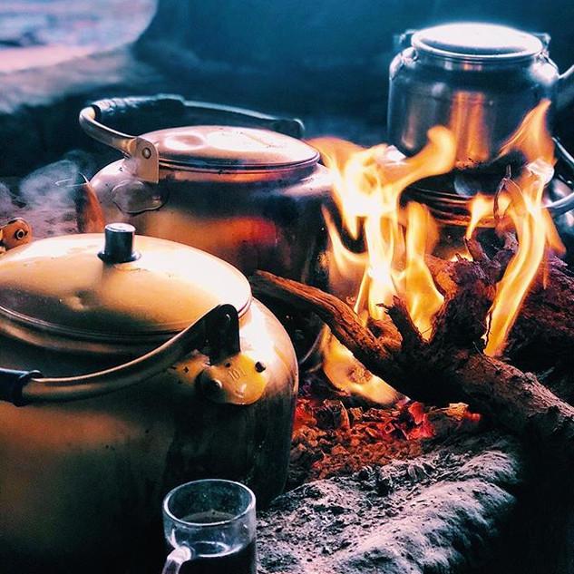 Hazy teatime glow somewhere in Wadi Rum.