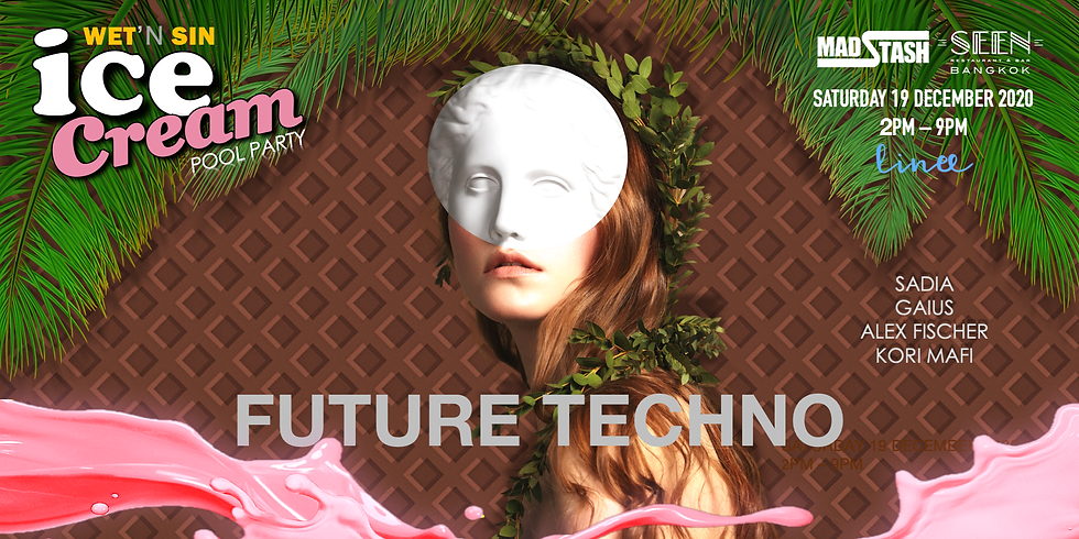 Wet'n Sin Pool Party ✮ Future Techno | Saturday 19 December 2020