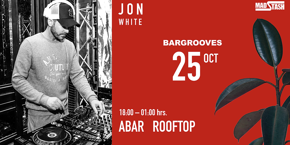BARGROOVES at ABAR ROOFTOP 25 OCTOBER 2019