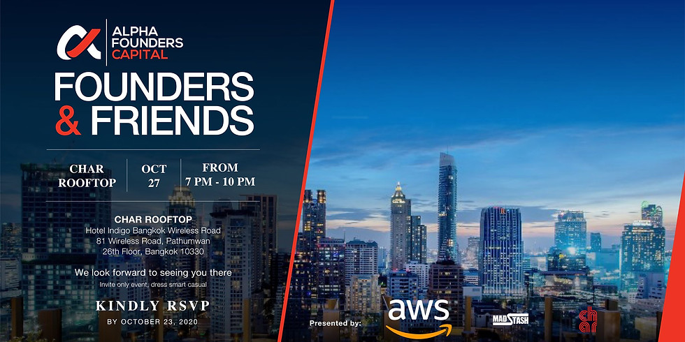 FOUNDERS & FRIENDS   Tuesday 27 October 2020