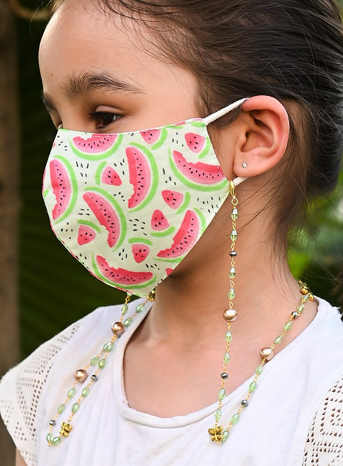 FASHIONISTA EVERGREEN BUTTERFLY Necklace/Mask Chain/Eyeglass Chain -KIDS