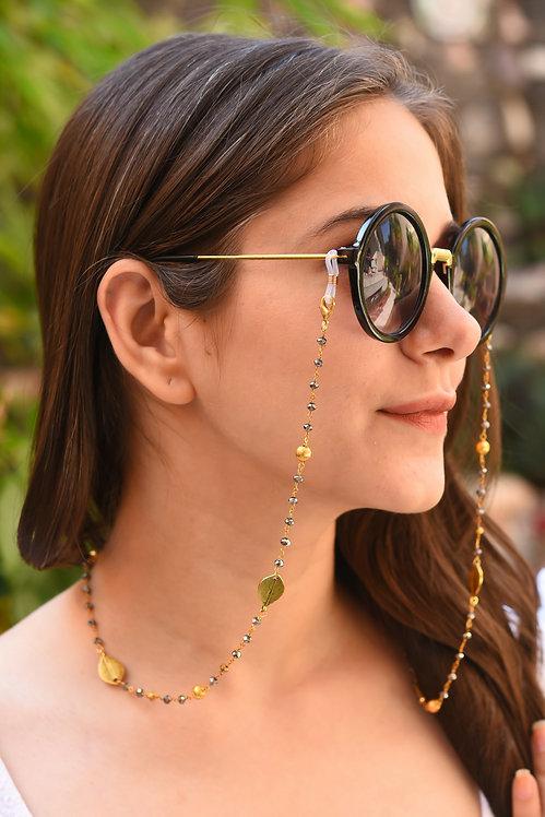 LEAF Metallic Brush Gold Mask/Eyeglass Chain