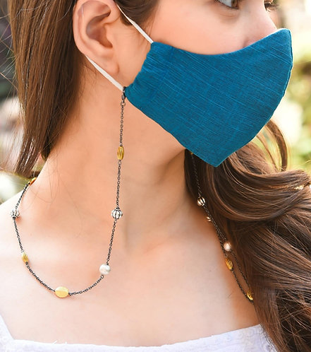 EXOTICA Accents BLACK Necklace/ Mask/Eyeglass Chain