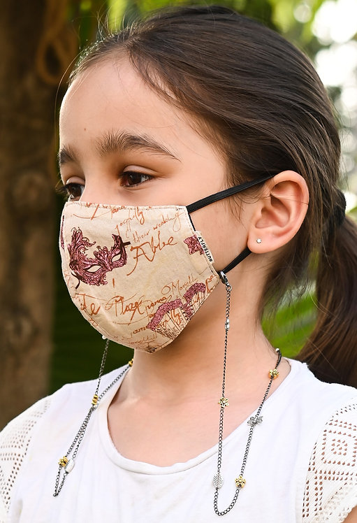 FLOWER, LEAVES & BUTTERFLY Necklace/Mask Chain/Eyeglass Chain -KIDS