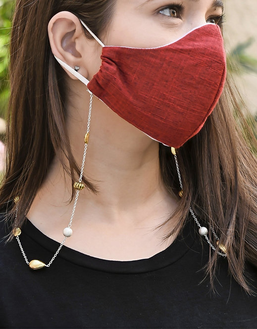 EXOTICA Accents SILVER Necklace/ Mask/Eyeglass Chain