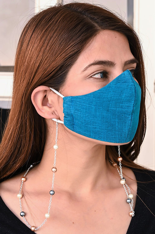 URBAN  8MM Multi- Pearl SILVER Chain Necklace/Mask Chain/Eyeglass Chain