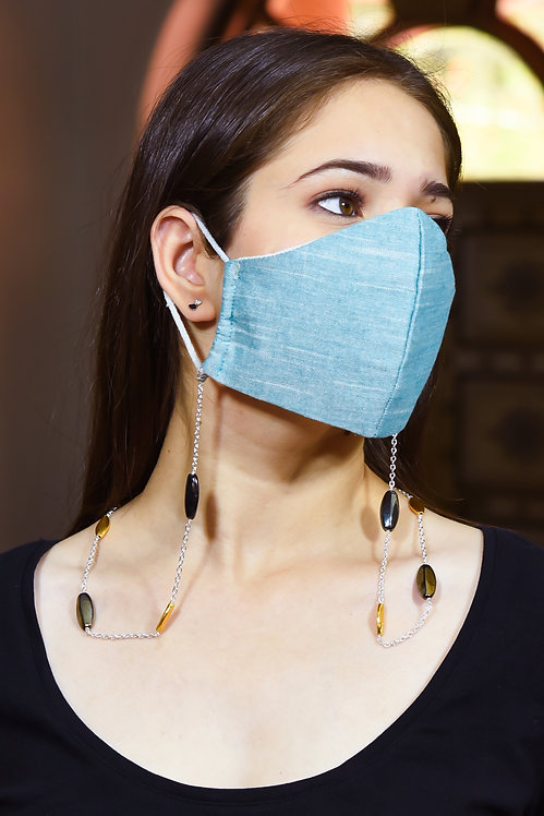 FOREVER Lustre Metallic, Gold Accents Necklace/Mask Chain/Eyeglass Chain