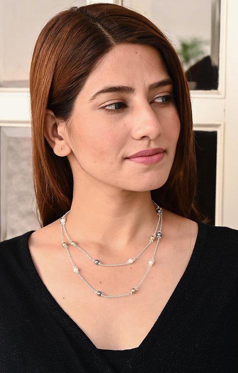 Multi-Pearl HEERA MOTI  Layer Necklace
