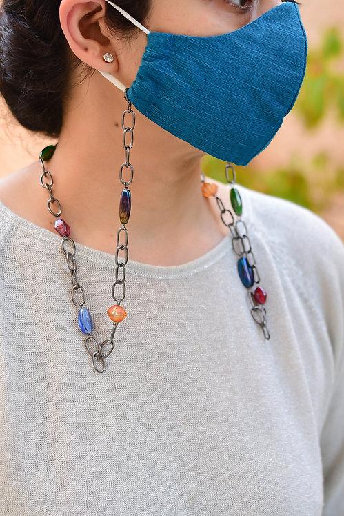 COUTURE Multi-Color Mask Chain -Black