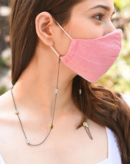 FLOWER Leaf BLACK Necklace/Mask Chain/Eyeglass Chain