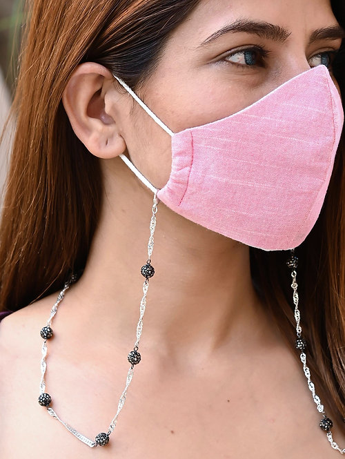 GLIMMER Black Pave  Necklace/Mask Chain/Eyeglass Chain