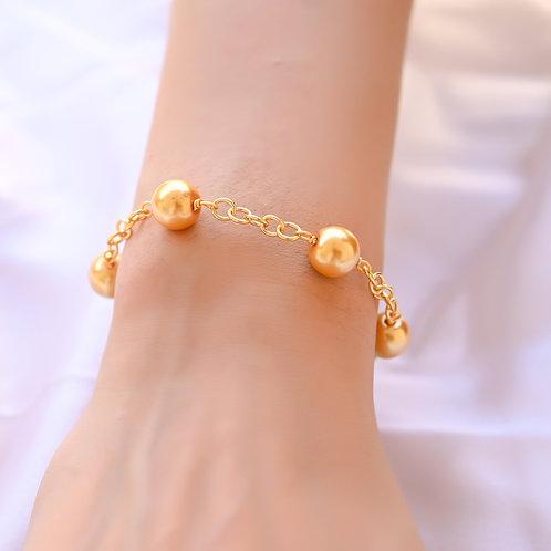 PURE Golden 10mm Pearl Bracelet
