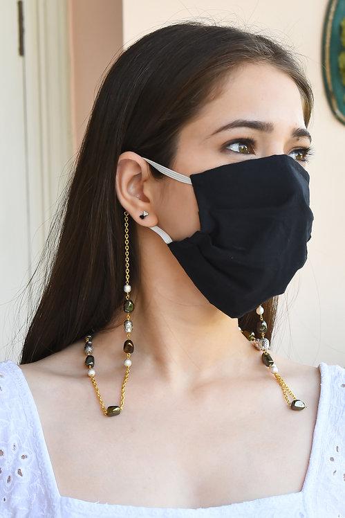 BUDDHA Lustre Rainbow, Sparkle Silver Necklace/Mask/Eyeglass Chain