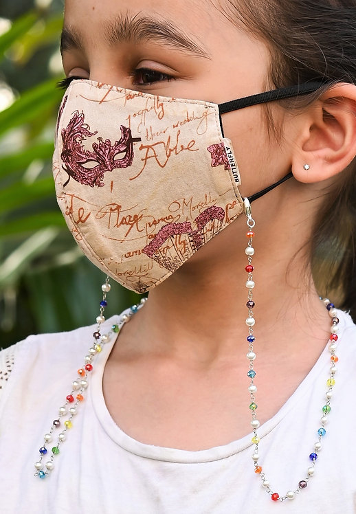 RAINBOW Chain with pearls Necklace/Mask Chain/Eyeglass Chain -KIDS
