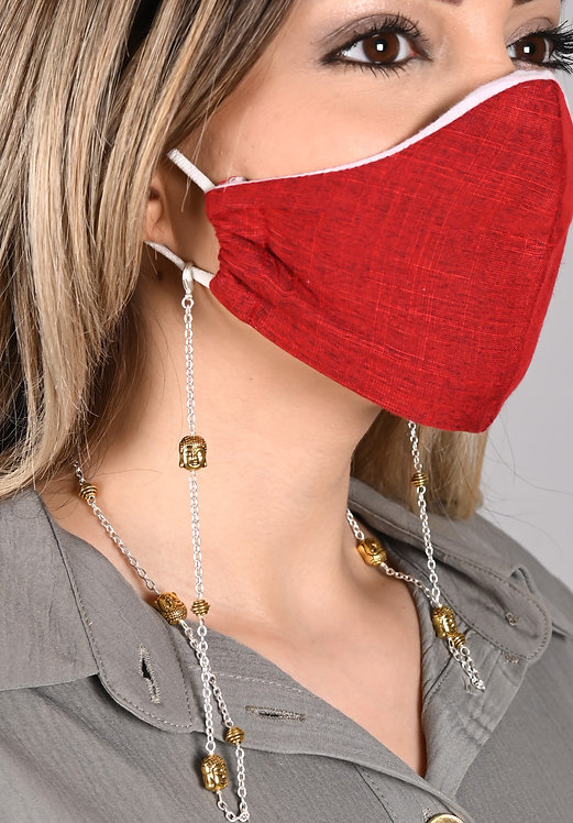 Buddha w/gold accents Necklace/Mask Chain/Eyeglass Chain