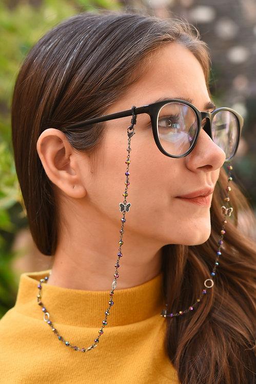 BUTTERFLY Metallic  Beads Mask/Eyeglass Chain