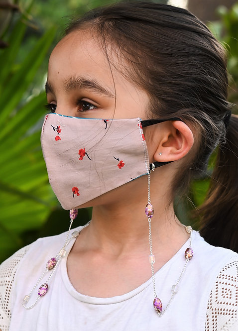 LAVENDER PAINT Beads Necklace/Mask Chain/Eyeglass Chain -KIDS