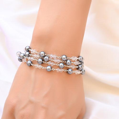 HEERA MOTI TORSADE Black Pearl  Bracelet