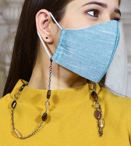 HEXA Champagne, Rainbow Metallic beads Necklace/Mask/Eyeglass Chain