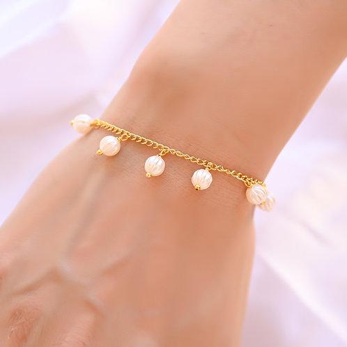 Melon Pearl Bracelet
