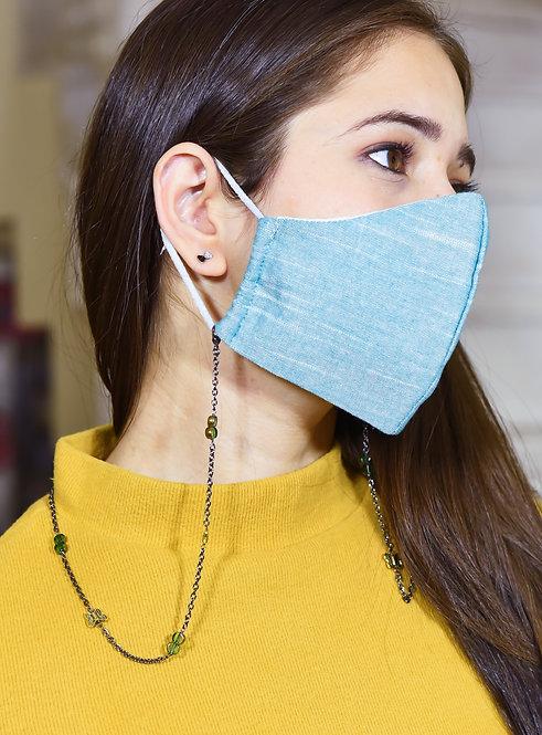 BUTTERFLY Green Sheen Beads  Necklace/ Mask/Eyeglass Chain