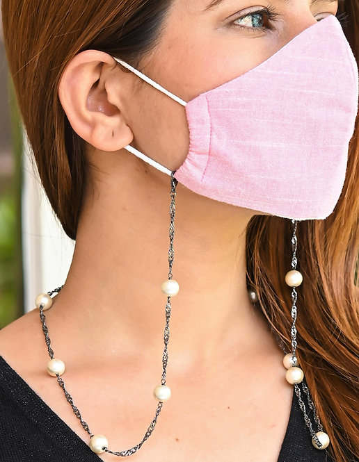 DAZZLE White Pearl  Necklace/Mask Chain/Eyeglass Chain