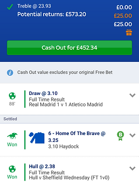Matched Betting Example Bet