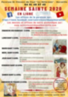 Horaires Semaine Ste Coronavirus 2020.jp
